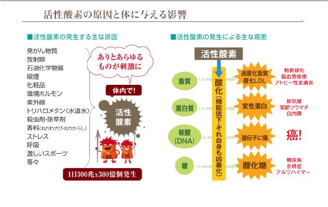 水素吸引サロン~活性酸素の影響...